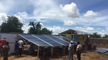 solar-container: set up of the mobile solar plant in mourdiah
