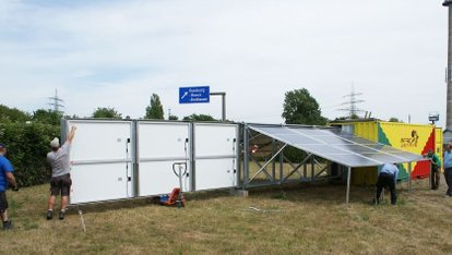 solar-container: testing by multicon solar in Duisburg